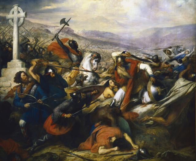Charles de Steuben's Bataille de Poitiers en octobre