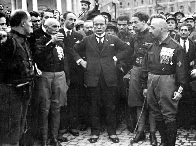 Benito Mussolini takes over Italy in the 1922 coup of October 1922