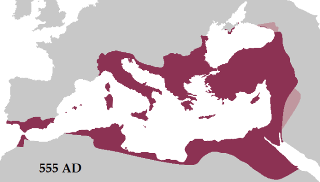 Eastern Roman Empire - Justinian 555AD