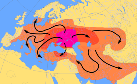Indo-European Expansions 4000-1000BCE