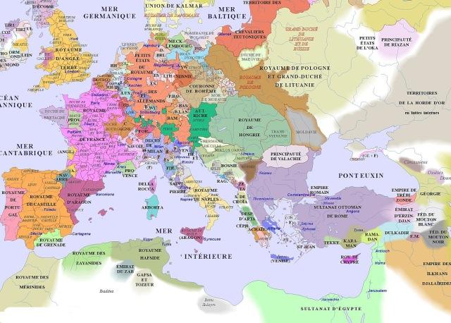 map of Europe (1400AD)_argentorum