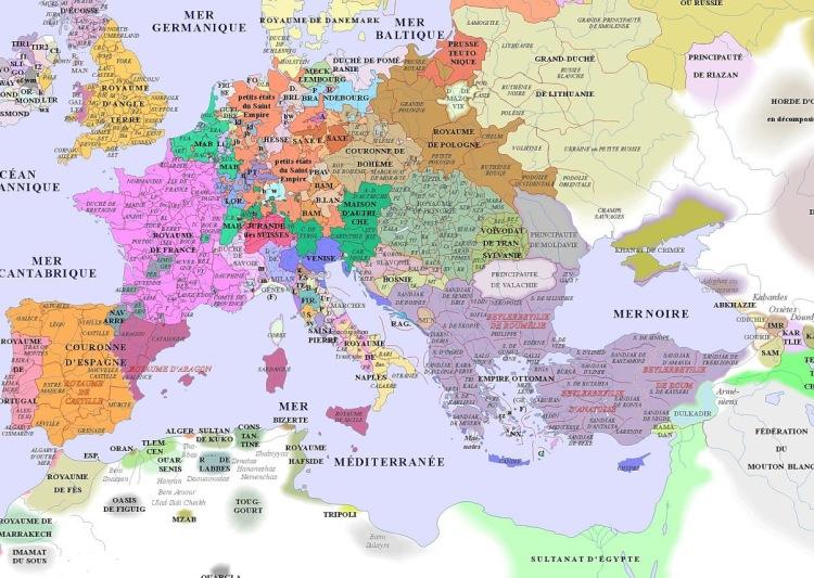 map of Europe (1500AD)_argentorum