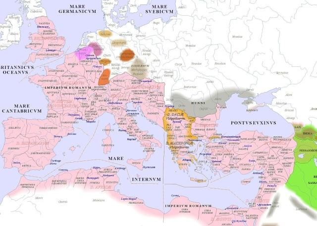 map of Europe (400AD)_argentorum