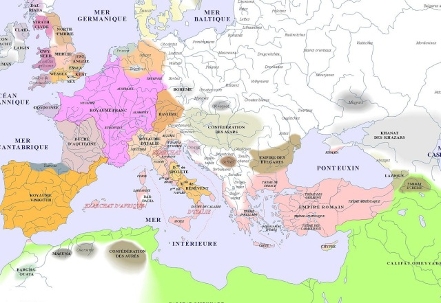 map of Europe (700AD)_argentorum