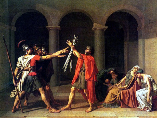 Oath of the Horatii, by Jacques-Louis David