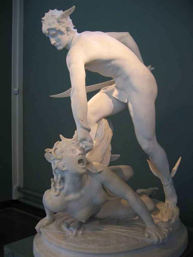 Perseus (founder of Mycenae) slaying the Gorgon Medusa