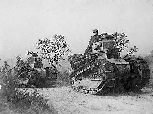 Renault FT tanks being operated by the US Army