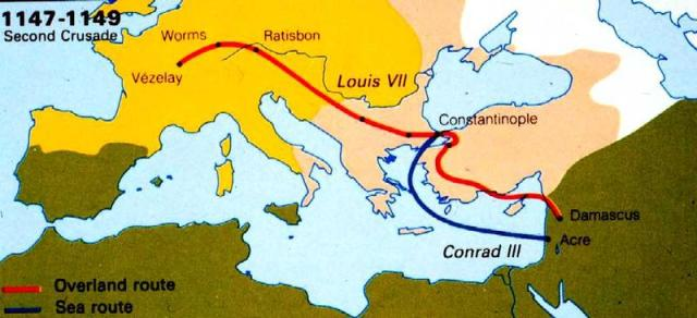 second_crusade_route_map