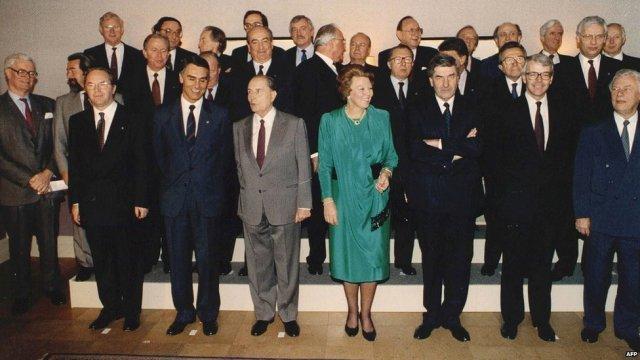 Signatories to the Maastricht Treaty