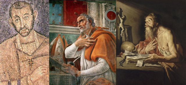 St Ambrose (340 – 397) St Jerome (347-420) and St Augustine of Hippo (354-430)