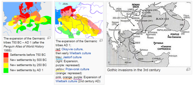 The path of the Goths - from Sweden to Spain and Italy