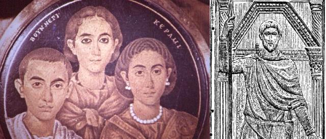 Valentinian III, Galla Placidia and Flavius Aetius